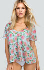 Wildfox Couture Dusty Rose Tropezienne Tee. Color: Multi. Size: S