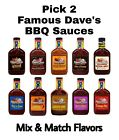 3 Pack Famous Dave's BBQ Sauces Pick Any Barbecue Flavor Dev