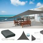 Triangle Sun Shade Sail Canopy Patio Garden Awning Shelter Sunscreen With Rope