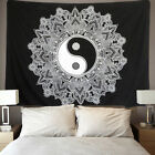 US SHIP Yin Yang Tapestry Mandala Wall Hanging Room Black White Wall Decor