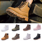 Women's Winter Casual Warm Flat Ankle Martin Boots Outdoor H