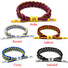 Trendy Men Shoelace Rope Bracelet Wristband Kobe NBA Sports Basketball Star on eBay