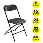 Kyпить (8 to 40 PACK) Commercial Wedding Party Stackable Plastic Folding Chairs Black на еВаy.соm