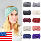 US Girls Womens Bowknot Hair Band Headwrap Winter Warm Knit Knit