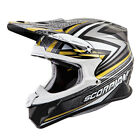 Scorpion Adult Gold/Black/White VX-R70 Barstow Dirt Bike Helmet DOT ECE