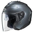 HJC Adult IS-33 II Solid Anthracite 3/4 Open Face Motorcycle Helmet DOT