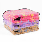 Pet Small Large Paw Print Dog Puppy Cat Warm Fleece Soft Blanket Beds Mat