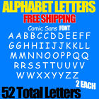 "Alphabet Letters Decals Pack Comic Sans 3/4"" Up To 5"" Free Shipping Stickers Diy"
