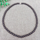 Magnetic Beads Black Hematite Magnetic Lose Weight Healthy Care Necklace 6MM 8MM