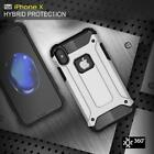 iPhoneX Shockproof Rugged Armor PC Hybrid Duty Hard Back Silicon Rubber Cover