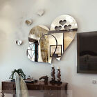 3d Removable Mirror Love Hearts Wall Sticker Decal Home Room Art Mural Decor Wht