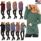 Women Off One Shoulder Long Sleeve T Shirt Ladies Casual Blouse Tunic Top Shirts