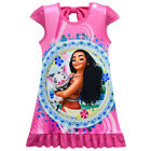 Dress For Girls Kids Moana Cosplay Costume Bow Princess Halloween Sleeveless