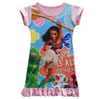Short Sleeve Dress For Girls Kids Moana Cosplay Costume Spring Is All Around Us