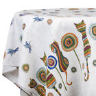 Внешний вид - Cats Embroidery Cotton Tablecloth. Square or Rectangular. Made in Russia