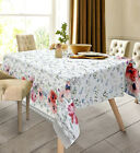 Cotton Tablecloth w/ Floral Print in Russian Ukrainian Folk Style Rectangular