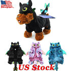 Halloween Funny Pet Dog Costumes Dragon Outfit On Back Cospl