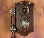 retro Wall Mounted Telephone Corded Phone Landline Antique For Home Hotel saloon