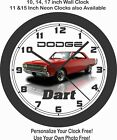 1969 DODGE DART WALL CLOCK-FREE USA SHIP-CHARGER, CHALLENGER, MUSTANG, CAMARO $41.99 USD on eBay