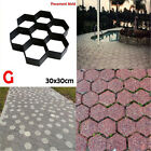 Garden Stone Walk Mold DIY Concrete Pavement Driveway Paving Brick Template