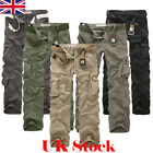 UK New Mens Hiking Camping Army Cargo Combat Military Trousers Casual Work Pants