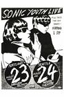 SONIC YOUTH & NIRVANA - Seattle 1980s Original Concert Poster Giclee Print