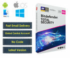 New Bitdefender Total Security 2019 | Windows 1 & 3 Years | Limited Stock
