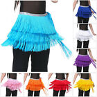 Dance Hip Scarf Belly Indian Dancing Pure Color Multilayered Fringed Waist Wrap