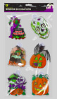 HALLOWEEN REUSABLE WINDOW PLAQUES / DECORATIONS WITH SUCTION HOOKS - SPOOKY