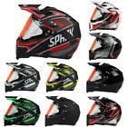 Off-road Motorcross Full Face Motorcycle Helmet Clear Lens Breathable Duarable