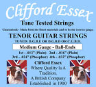 CLIFFORD ESSEX TENOR GUITAR STRINGS. TUNED D G B E. MEDIUM. MADE IN BRITAIN. for sale