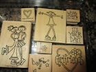 STAMPIN' UP STAMP SETS ~ USED RETIRED RUBBER WOOD MOUNTED- YOU CHOOSE FREE SHIP!