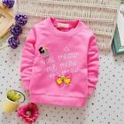 Kids Girls Spring Autumn T-shirtsToddler Audel Cotton Long Sleeve Winter Bottomi