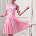 Women Lace Formal Evening Ball Gown Party Cocktail Prom Bridesmaid Wedding Dress