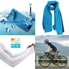 Cooling Towel + UV Sun Protection Cooling Arm Sleeves for Outdoor Sports Driving image