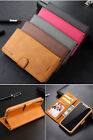 Classic Flip Magnetic Pu Leather Wallet Card Pocket Kickstand Case Cover Lc