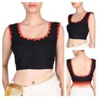 Black & Red Blouse Stitched Tailoring Handmade Choli Saree Blouses Ready