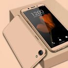 For OPPO A3/A3S A5 A83 F7 F5 F1S 360° Full Slim Back Case Cover + Tempered Glass