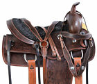 Western Barrel Saddle Pleasure Trail Show Antique Vintage Horse Leather Tack