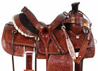 Ranch Team Roping Saddle Western Premium Leather Trail Cowboy Horse Tack