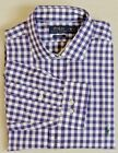 Ralph Lauren Polo Pony Long SL Gingham Plaid Non-Iron Spread Dress Classic Shirt