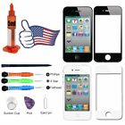 For iPhone 4 4S Tools Kit+Black/White Front Touch Screen Glass Replacement Lens