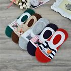 Women Casual Funny Style Cartoon Ventilate Sock Slippers Antiskid Silicone Short