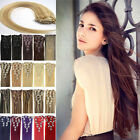 Clip In Real 100% Indian Remy Human Hair Extensions 16/22Inch 7Pcs PerSet AAAAAA