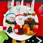 3Pcs/Lot Christmas Decoration Cutlery Suit Silveware Holders Porckets Knifes Fol