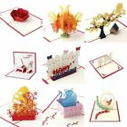3D Pop Up Greeting Card Handmade Happy Birthday Merry Christmas Card Gifts