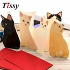 1PC Cute Cat Folding Greeting Card Birthday Christmas Cards Envelope Writing Pap