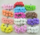 12pcs Cheap mini roses artificial flowers lace wedding flower deco