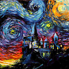 van Gogh Never Saw Hogwarts Castle Potter Wall Art Print Starry Night Aja Decor