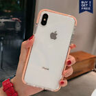 For iPhone XS Max XR 8Plus 7 Crystal Clear Case Girls Lovely Thin Soft Gel Cover